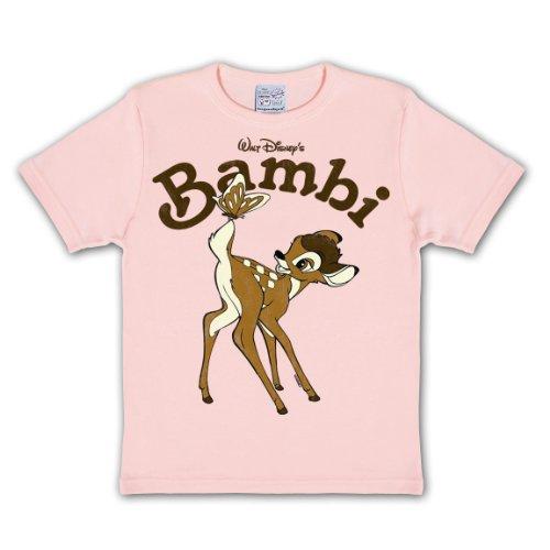 für Disney Fans pink hochwertiger Druck Markenware - 140/152 (Bambi Kostüm Für Kinder)