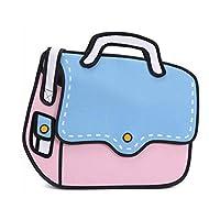 Sichyuan 3d Style 2d Sacs bandoulière dessin animé Sacs scolaires, Sac multifonctions personnalisé pour sacs à main Sac à dos (5 couleurs).