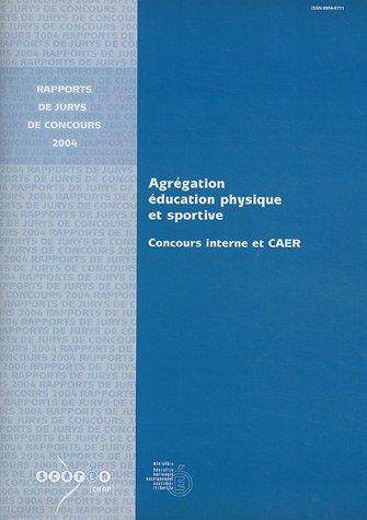 Agrégation d'Education physique et sportive : Concours interne et CAER par Ministère Education Nationale