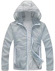 Mochoose Femme Légère Packable Veste de Sport à Capuche Protection UV Coupe Vent à Séchage Rapide