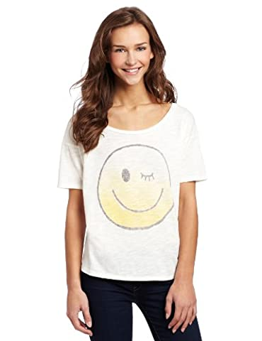 Smiley Face If It Feels Good Junk Food Boat Neck Sheer Juniors Sleepshirt Tee