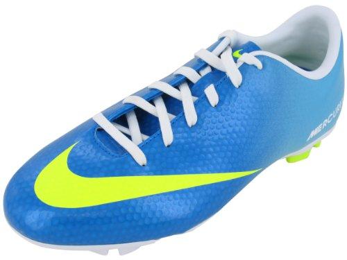 Nike Jr Mercurial Victory IV FG (553631–380), Bianco/Blu, 34 EU