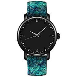 Damen Armbanduhr Quarz Leder iCreat