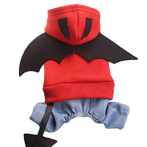 Batman Hund Pet Kostüm Batman Shirt mit Flügeln Kleidung für mittlere Hunde kleine ()