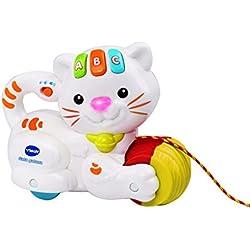 VTech Baby - Gata gatuna, juguete de arrastre, color blanco (3480-158222)
