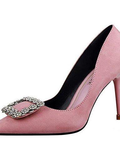WSS 2016 Chaussures Femme-Soirée & Evénement-Noir / Rose / Rouge / Gris-Talon Aiguille-Talons-Talons-Synthétique gray-us6 / eu36 / uk4 / cn36