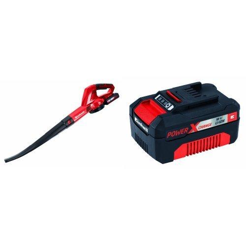Einhell GE-CL 18 Li KIT - Soplador (batería litio 18 V Li-Ion - 1,5 Ah - Power X-Change) + Power X-Change - Batería (18 V, 3.0 Ah, 60 min)
