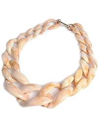 8c09ce4ee8af Yonsenner Collar Hermoso Colgante Collar de Cadena de clavícula de Cadena  Gruesa exagerada de acrílico Corto