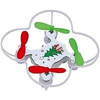 Virhuck Volar-360 RC Nano Drone Quadcopter, 2,4 GHz / 4,5 CH / 6 Systeme AXIS GYRO, LED Multicolores, Sans Tete / Mode Un Retour Cle Mini Drone - Bleu, Vert, Jaune, Orange