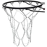 RUNACC Basketball Metal Chain Net Heavy Duty Basketball Hoop Net Outdoor Basketball Sport Link Net, Suitable for Standard Basketball Hoop, Silver