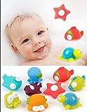 9-Pack Océano Squirting juguete del baño del Organizador para...
