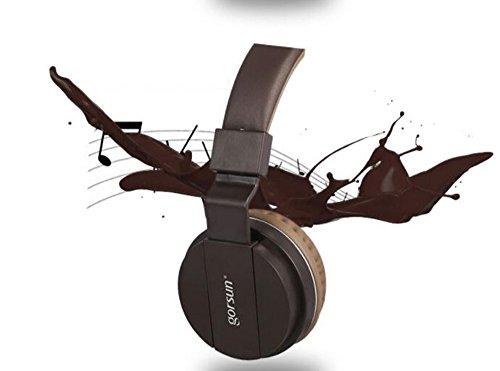 Mr. Fragile Laptop Gaming Kopfhörer Headset Kopfhörer Mikrofon,Brown