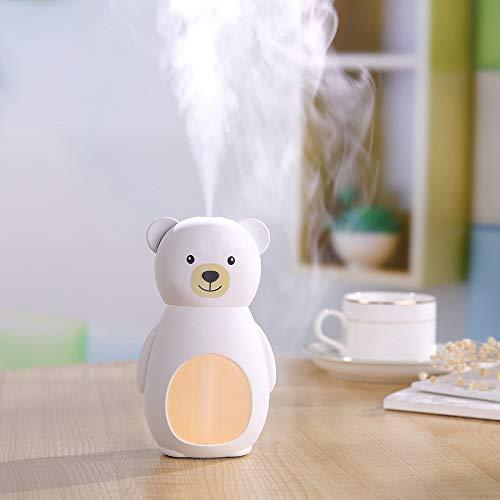 Yazidan Bär LED Luftbefeuchter Ultraschall Vernebler Raumbefeuchter für Yoga Salon Spa Wohn-, Schlaf-, Bade- oder Kinderzimmer Hotel euchtigkeitsabgabe für Raum,Büro, Spa,usw (Baumwolle König Bettwäsche-sets)