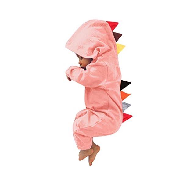 HAOHEYOU Ropa para BebéS,0-24 Meses ReciéN Nacido Infantil Bebé NiñO Chicas Dinosaurio Estilo Labor De Retazos Mameluco… 1