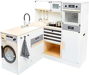 11464 Cocina Infantil Modular XL, Small Foot, de Madera, Cocina Multifuncional, Juego de rol, Sistema Modular