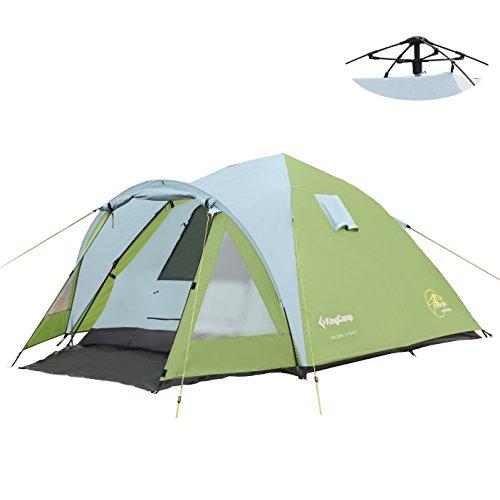 KingCamp Holiday 3 Mann 3 Person einfach Zelt 3000 mm wasserdicht Feuer resistent für Camping Wandern Familie