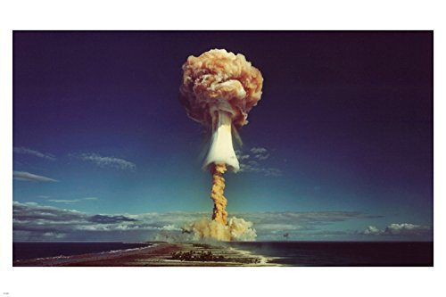 USA ATOMIC BOMB TESTING poster 24X36 mushroom cloud HISTORIC collectors by HSE -