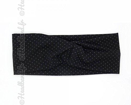 Turban motifs à pois noir