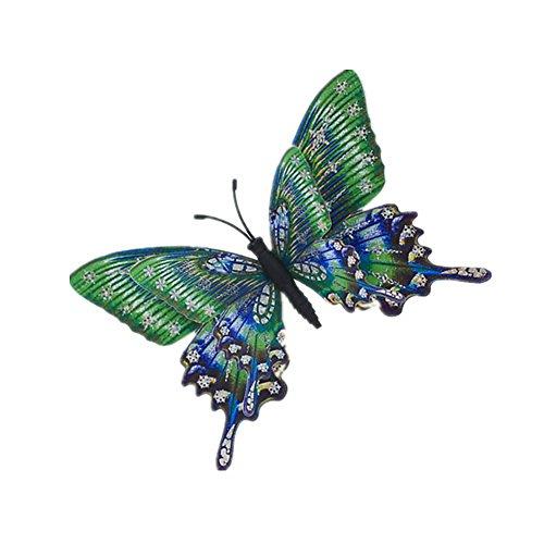 YYL Aimant Simulation de Modèle Papillon Décoration Réfrigérateur et Mur,Vert,Taille Unique