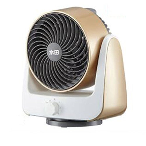 FH Ventilatoren 6 Zoll-zirkulierender Elektrischer Ventilator-Desktop-Luft-Konvektions-Schlafsaal-Mini Stereorüttler-Haupthaus-Ventilator (Color : Gold)