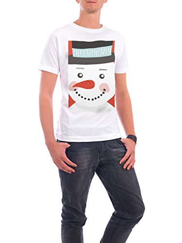 Design T-shirt Men Continental Cotton Mr. Snowman White Size 4xl - Fair & Eco-friendly Shirt