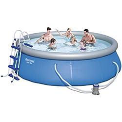 Bestway Kit piscina redonda 12706azul 366x 366x 91cm 6665L 12706
