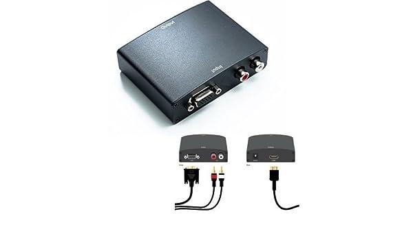 AUDIO R//L A HDMI TV MONITOR PC VIDEO CONVERTER LScommerce/® CONVERTITORE DA ANALOGICO VGA