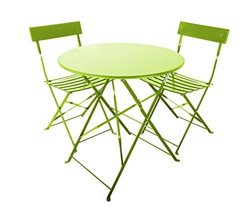 Westfield Outdoors – Ensemble de Jardin Coral avec Table et Deux chaises N/A Green