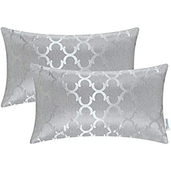 CaliTime Cushion Covers Pack of 2 Bolster Pillow Cases