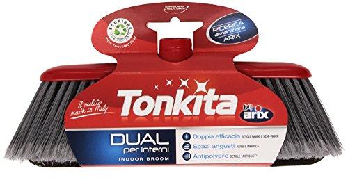 Tonkita Dual Besen für den Innenbereich, doppelt effizient, enge Stellen, staubresistent