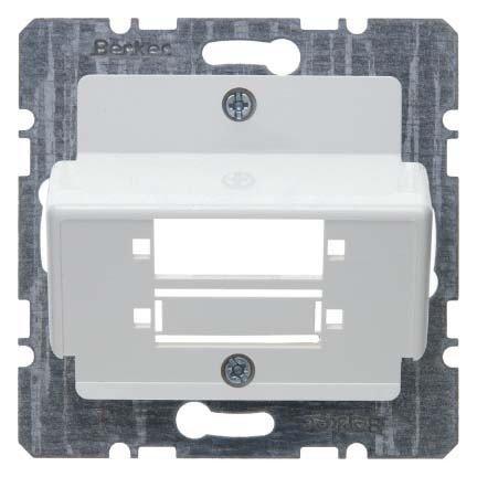 Hager–Capuchon pour connecteur fibre optique duplex SC Blanc polaire mat