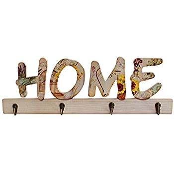 TIED RIBBONS Wall Mounted Key Holder Hanger Wooden Keychain Holder Antique for Home Decoration (13 cm x 44 cm, Wood)