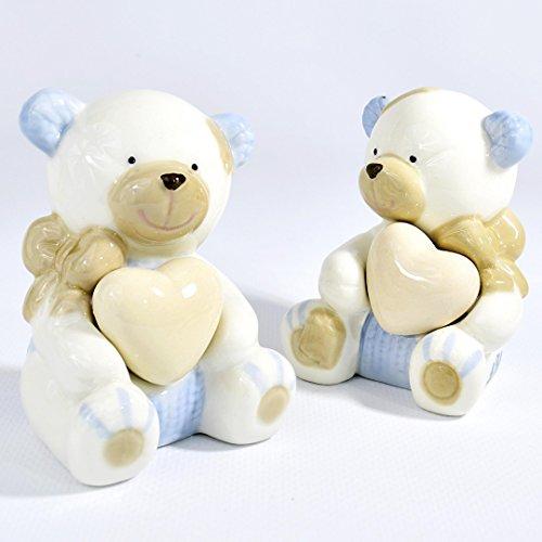 Albalù italia bomboniere nascita battesimo bambino orsetto in ceramica grande