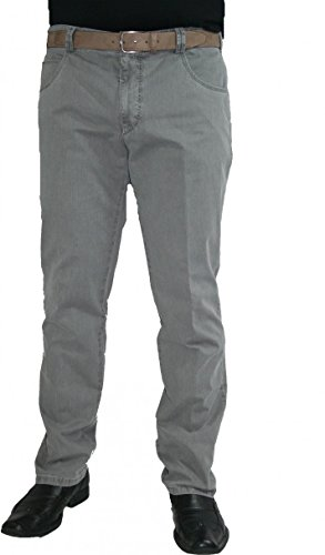 Meyer Hosen -  Jeans  - straight - Basic - Uomo Grau 33