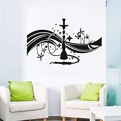 Weekend-lounge (yiyiyaya Wasserpfeife Shisha Cafe Bar Lounge Wandtattoo Schlafzimmer Arabisch Vinyl Wandkunst Aufkleber Wohnzimmer Selbstklebende Wanddekor Decals gelb 42x26 cm)