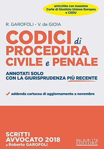 Codici di procedura civile e penale annotati solo con la giurisprudenza più recente