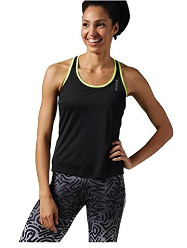 Reebok Damen Ärmelloses Shirt Running Essentials Long Bra Top, Black, Gr. S