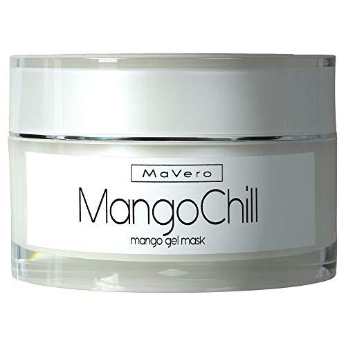 MaVero MangoChill - kühlende Mango Gesichtsmaske, Mitesserentferner, Collagen-Aufbau, Anti-Pickel, Gesichtsreinigung, reine Haut, Mango Extrakte, Panthenol, Glycerin, Vitamin C ∙MADE IN GERMANY -