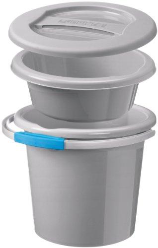 Sunware 16600072 Water line - Set di bacinelle e secchi, misura piccola, 12 l