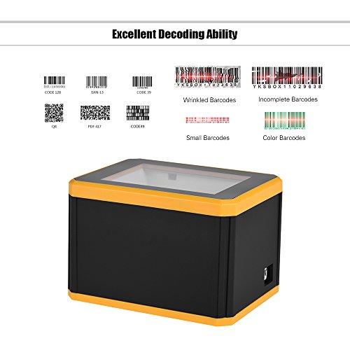 aibecy Scanner Barcode omnidirektional Platform 1d/2d/QR Barcode Scanner Reader Präsentation mit USB Schnittstelle -