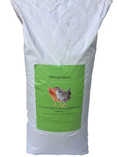 Hühnerfutter Mehrgold Korn Körnerfutter für Ihre Hühner 25kg Sack (Jetzt Vitamin E Gemischt)