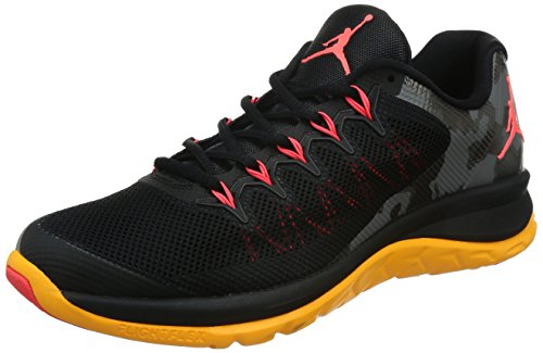 Nike Jordan Flight Runner 2, Chaussures de Running Entrainement Homme, Noir, Taille Noir / Orange / Rose (Black / Infrared 23-Laser Orange)