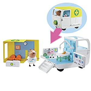 Peppa Pig - Ambulancia y Centro médico Peppa Pig (Bandai 6722)