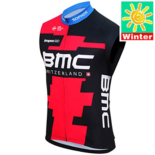 Sports Thriller Rider XiXiMei EU Stil 15 Mountain Bike Thermisch Radweste für Herren MTB Fahrrad Westen Ärmellos Winter Large (Mountain-bike Winter)