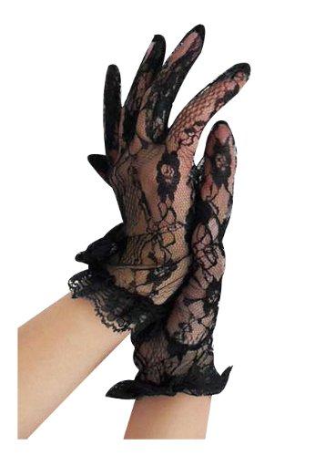 (Beautys Love Spitzen-Handschuhe Kurz Damen Schwarz One Size)