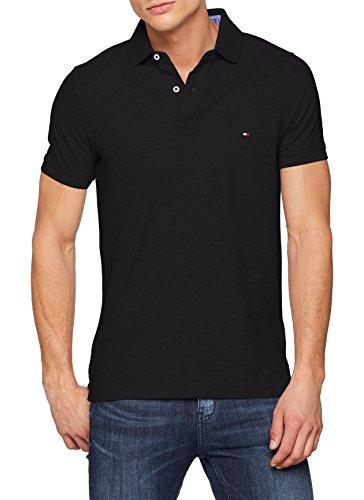 Tommy Hilfiger Herren Poloshirt 50/2 PERFORMANCE POLO S/S SF, Gr. Medium, Schwarz (NEW BLACK 060)