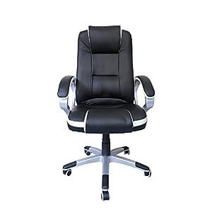 HG® Silla Giratoria De Oficina Silla De Juegos Premium Confort Apoyabrazos Tapizados Silla De Carreras Capacidad De…