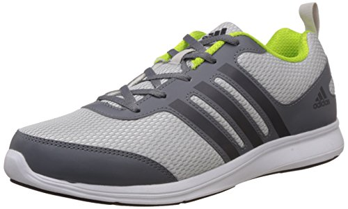 6. adidas Men's Yking M Grey, Silver, Dark Grey and Yellow Running Shoes - 6 UK