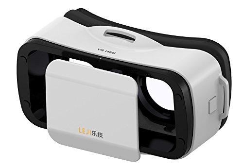 VR Headset, leji mojing Tragbarkeit 6,5oz/175g mit verstellbarem Schüler und Brennweite Neue Version 4.0Für iphone android und Windows Handys von ysshui-white