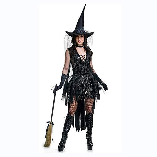 Halloween Hexe Kostüm, Hut und Hand Set Dress Up Teufel Kleid, Kostüm Party Hexe Kostüm,L (Hexe Kostüm Händen)